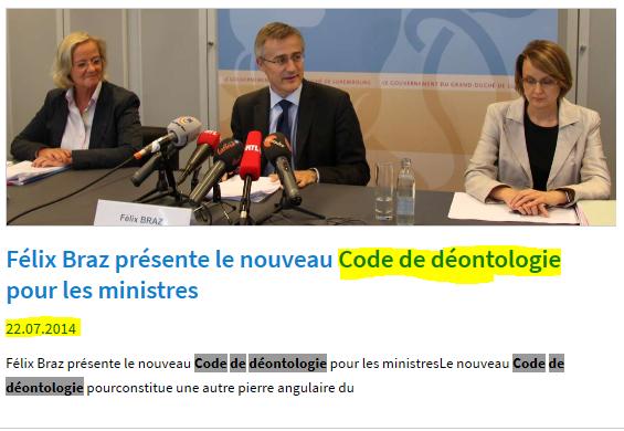 Der Regierung hir Deontologie um Leescht … awer keng QP erwënscht