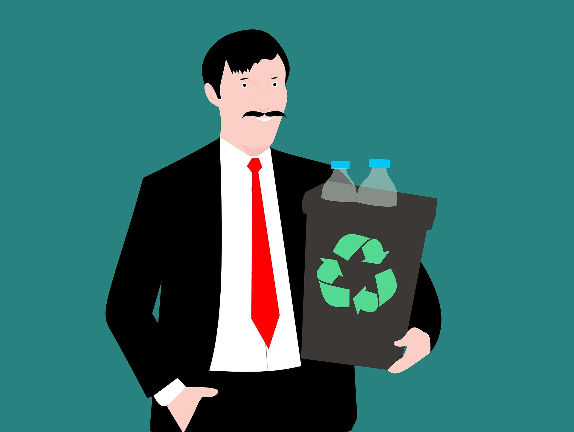 Wéi effikass ass de Recyclage vun de Fläschen aus Glas a Plastik?