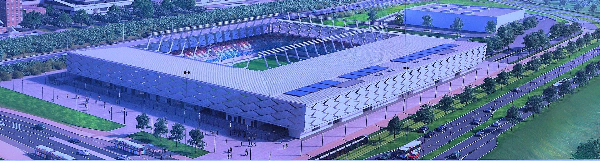 """Stadion vu Lëtzebuerg am Plaz """"Stade de Luxembourg"""""""