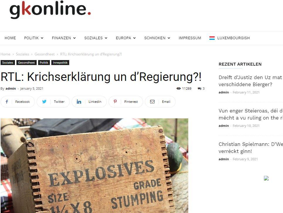 Covid-19: Deal tëscht Staatsministère an RTL?