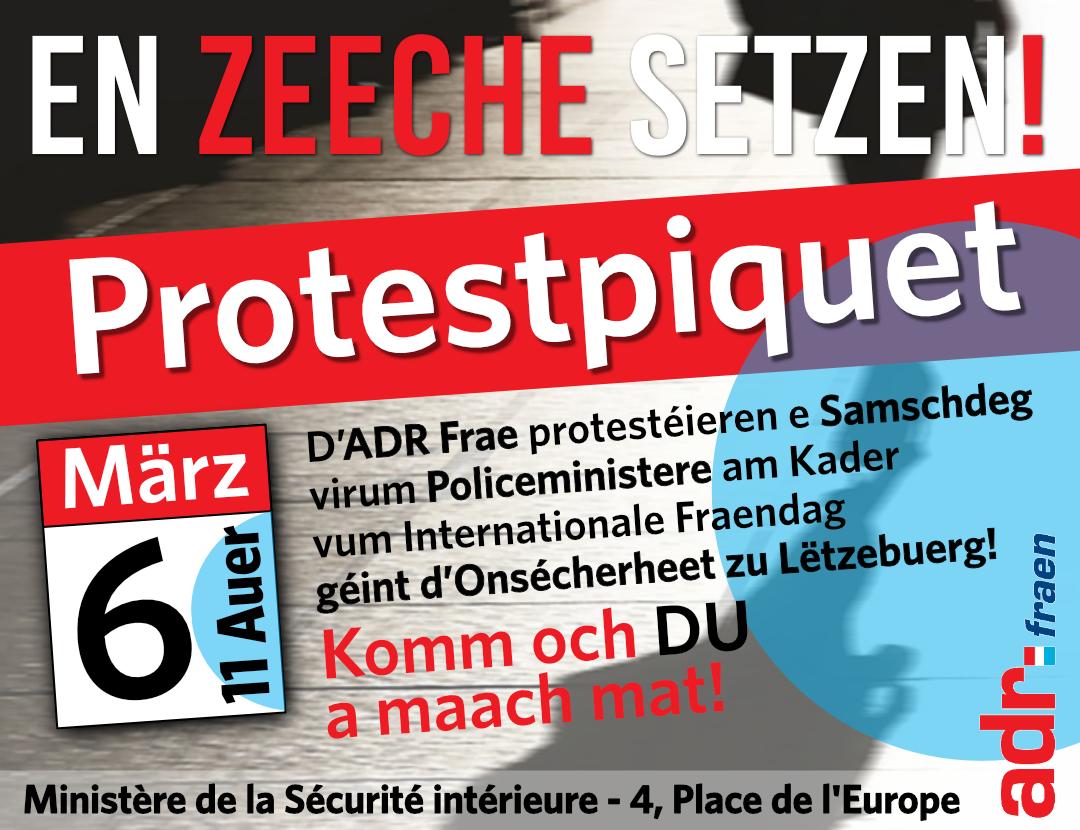 ADR Frae protestéiere fir méi Sécherheet zu Lëtzebuerg