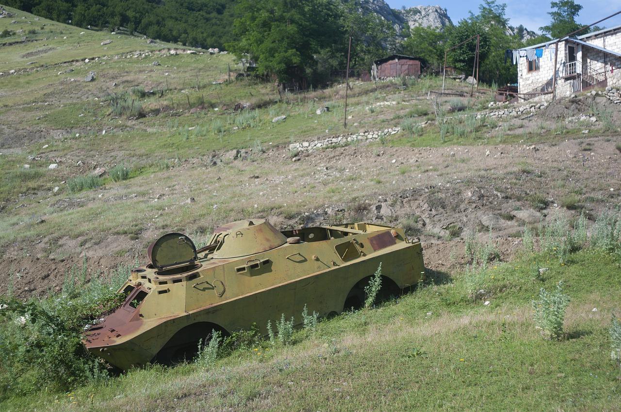 Armenesch Krichsgefaangener am Aserbaidschan