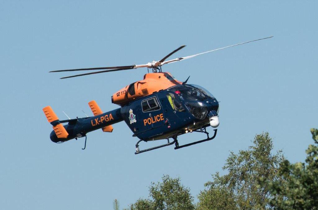 Absurd Virfäll am Hibléck op Policehelikopteren?